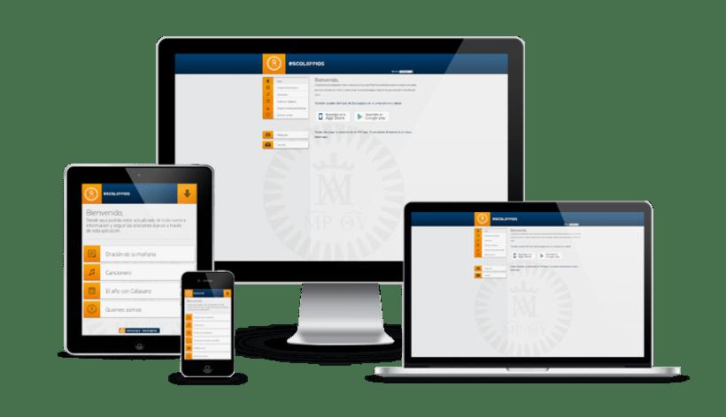 Escolappios app iOS/Android y Web con CMS propio -1