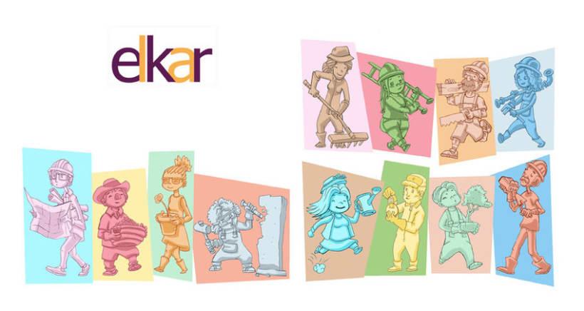 Elkar: Ilustraciones para cuentos infantiles. -1