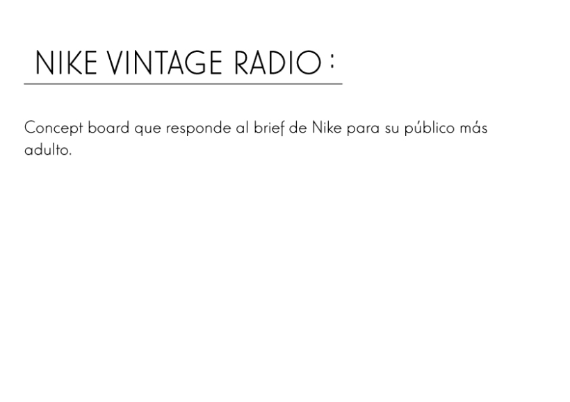 Nike Vintage Radio -1