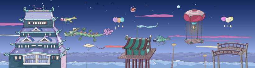 Kinito Ninja 2: Backgrounds 1