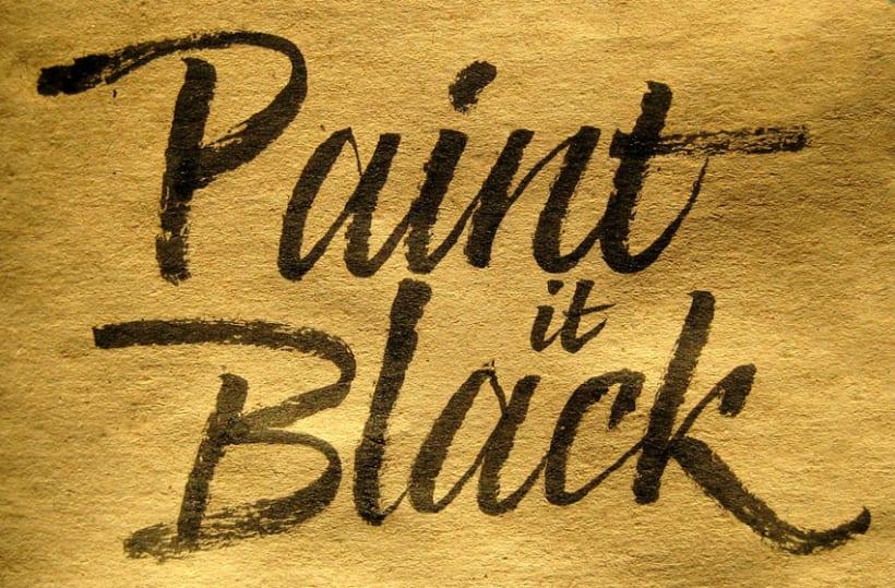 Paint it Black - Caligrafía con Pincel 0