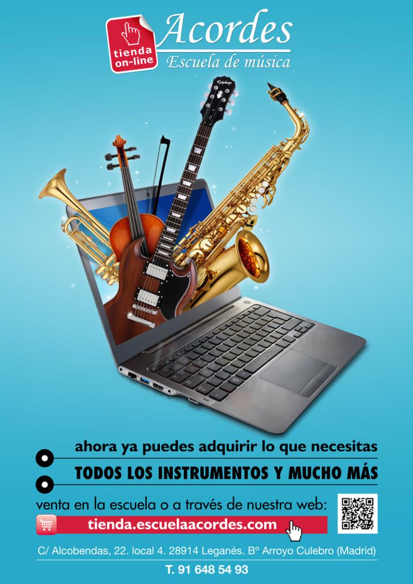 Acordes Escuela de Música. Cartelería 4