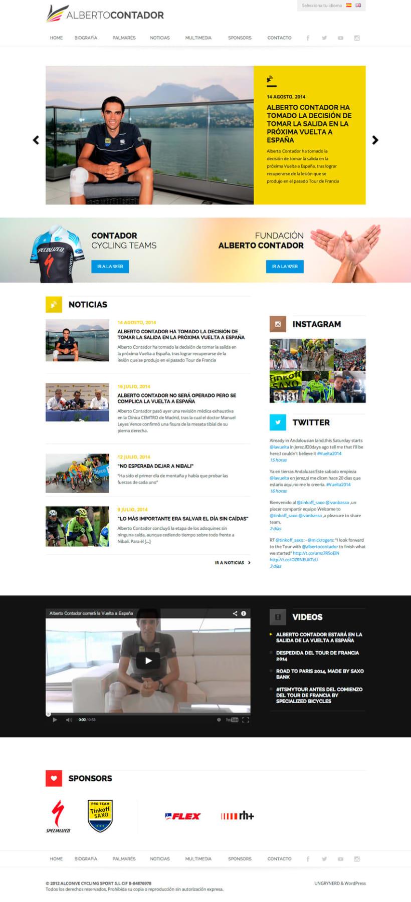 Web personal Alberto Contador -1