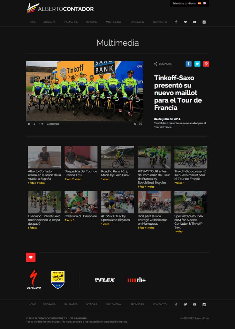 Web personal Alberto Contador 2