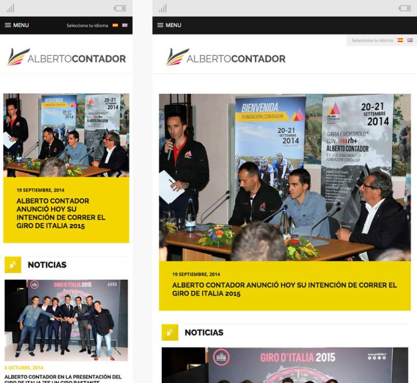 Web personal Alberto Contador 3