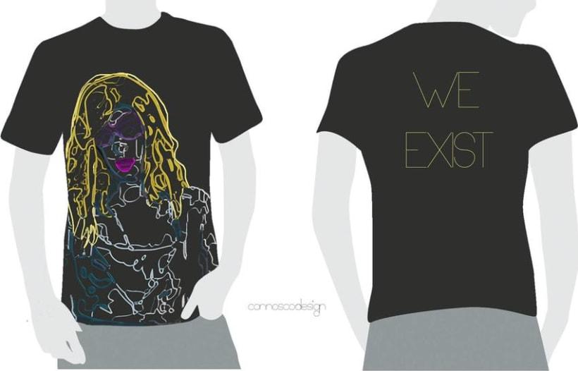 Camiseta Arcade Fire. WE EXIST -1