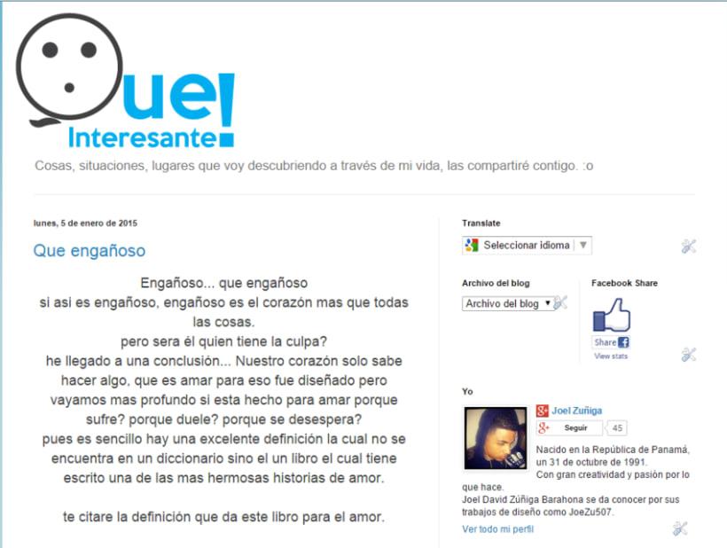 """Diseño de logo para Blog """"Que Interesante"""" 0"""