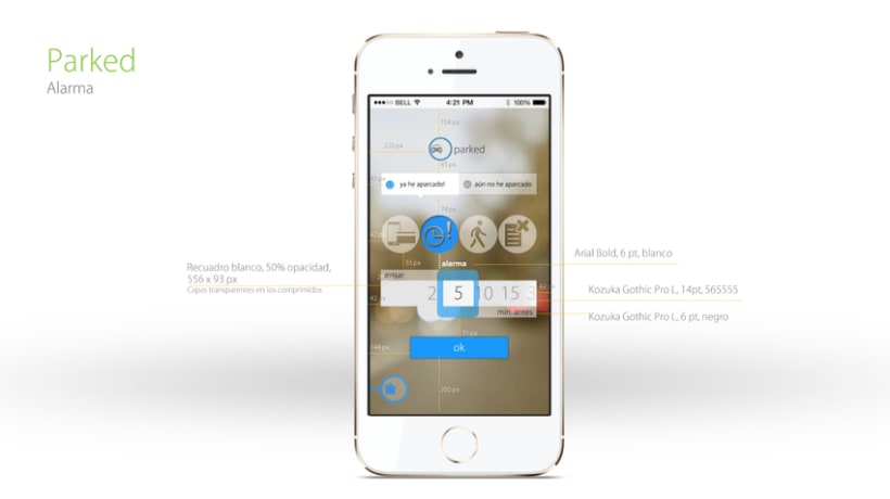 App de Aparcamiento - UI/UX wireframing and image files 6