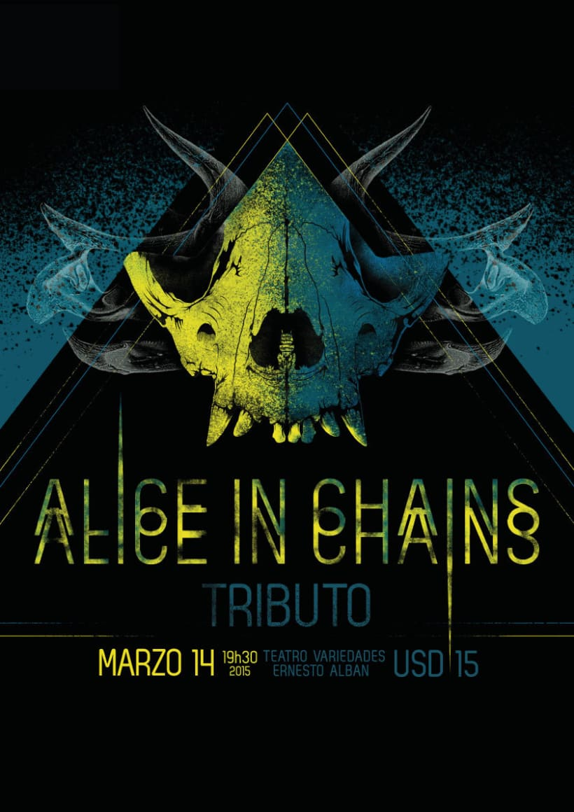ALICE IN CHAINS ILUSTRACIÓN POSTER -1