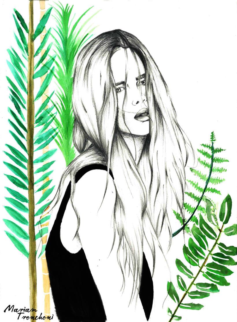 Ilustración Wild Girl -1