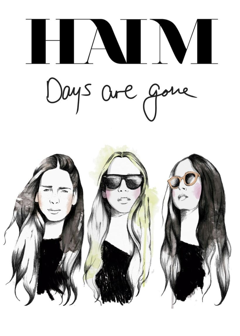 Ilustración Haim Music Poster -1