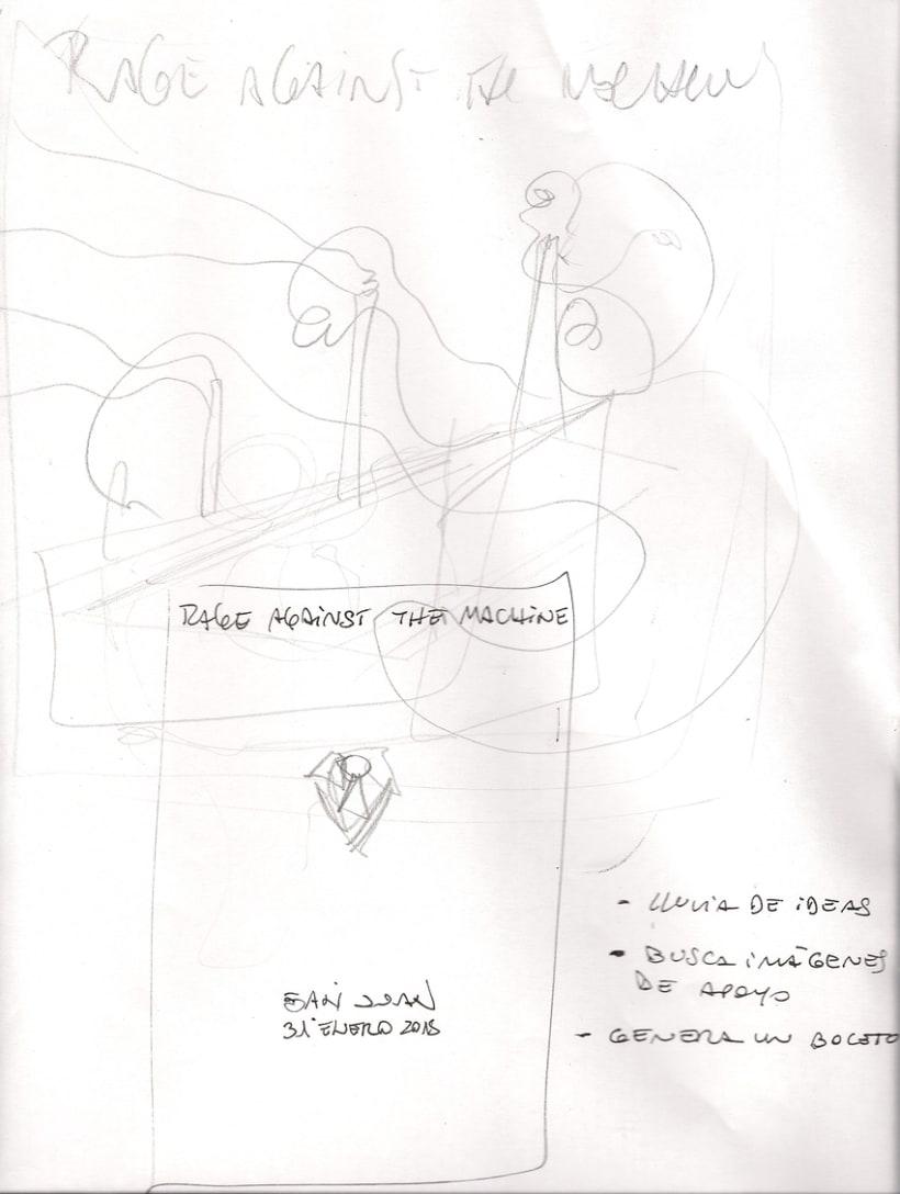Mi Proyecto del curso Ilustración para music lovers: RATM 1