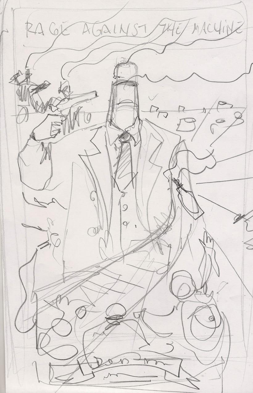 Mi Proyecto del curso Ilustración para music lovers: RATM 28