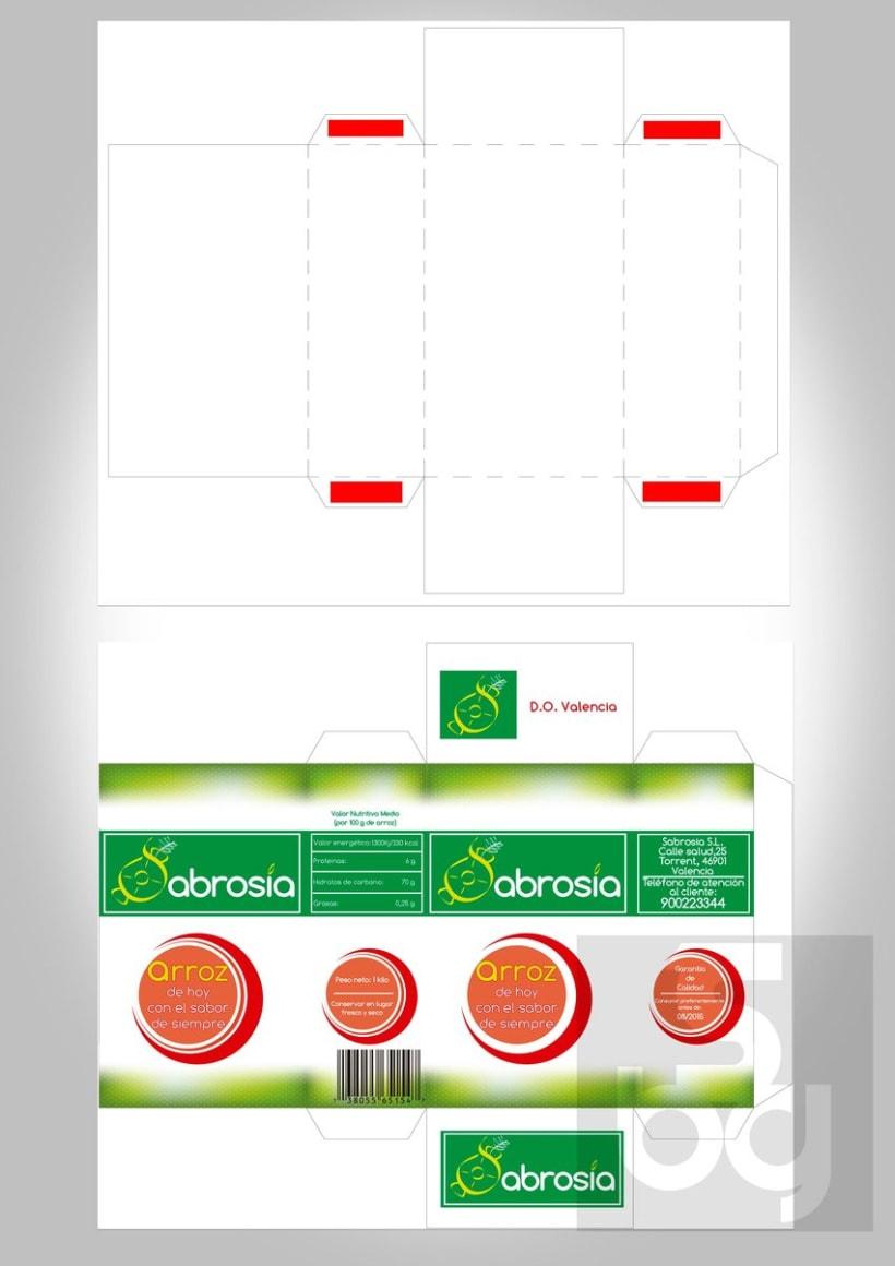 Diseño de logotipo y normas de identidad visual de marca de arroz 5