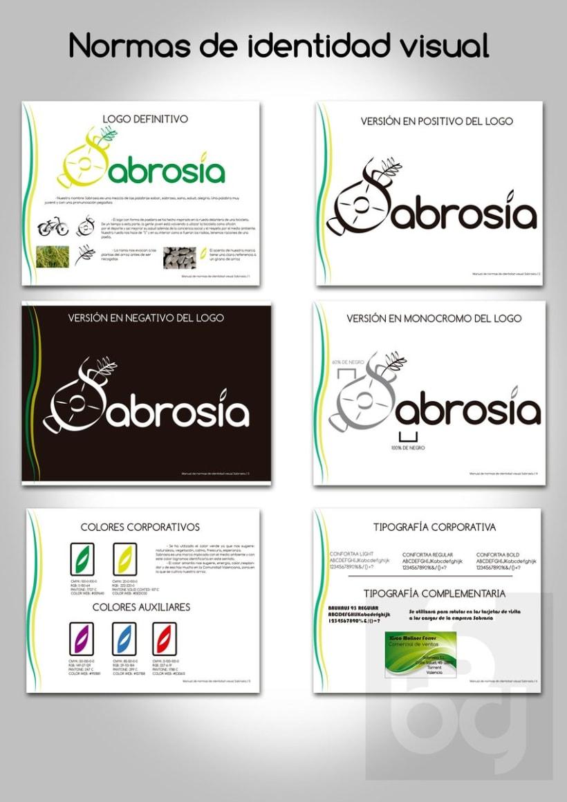 Diseño de logotipo y normas de identidad visual de marca de arroz 9