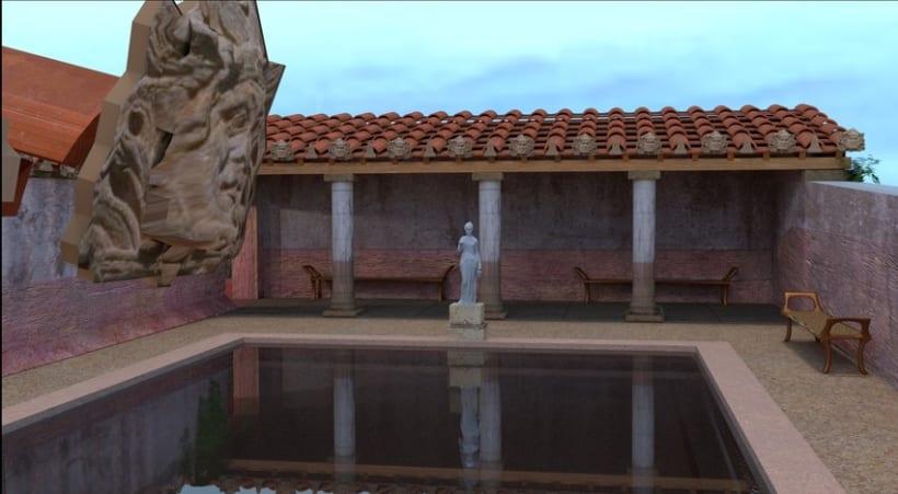 Virtualización de las Termas de la Alcudia. Yacimiento romano. 2