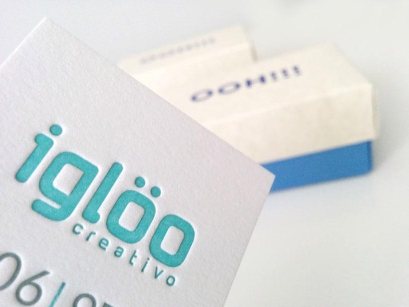 Tarjetas en letterpress para el estudio Iglöo Creativo 1