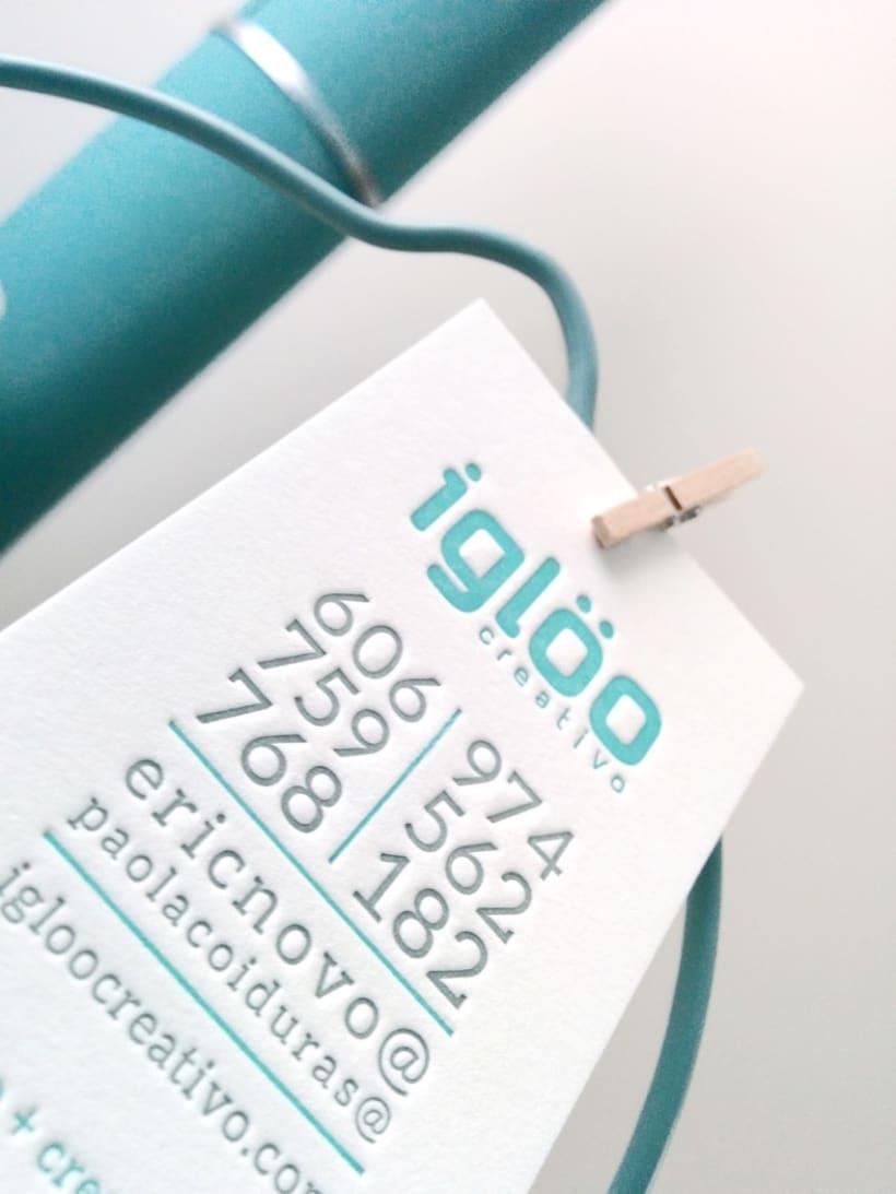 Tarjetas en letterpress para el estudio Iglöo Creativo 2