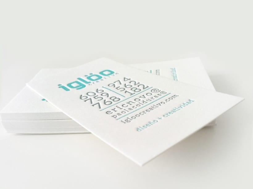 Tarjetas en letterpress para el estudio Iglöo Creativo 3