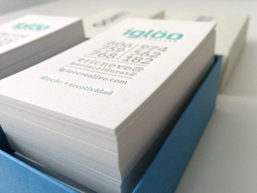 Tarjetas en letterpress para el estudio Iglöo Creativo 4