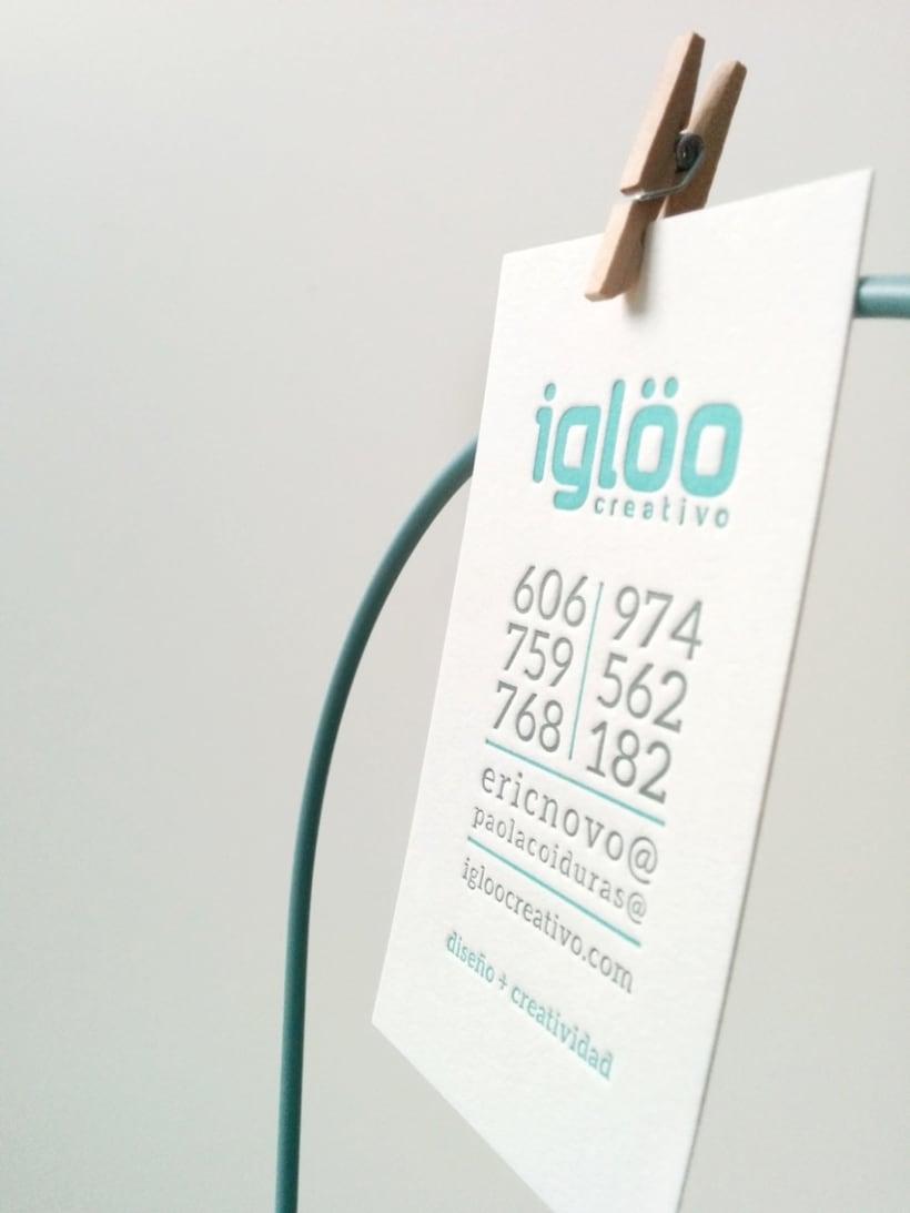 Tarjetas en letterpress para el estudio Iglöo Creativo 5