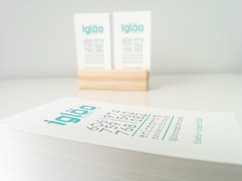 Tarjetas en letterpress para el estudio Iglöo Creativo 6