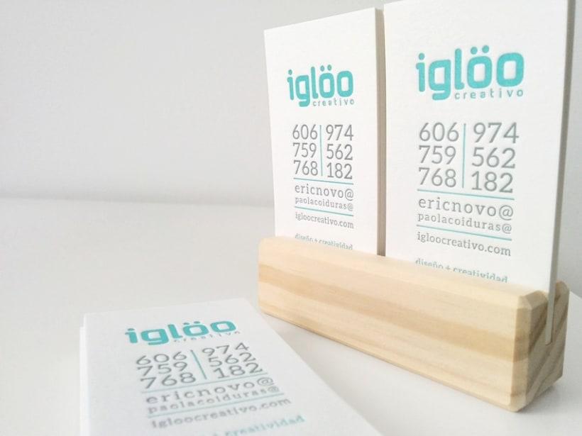 Tarjetas en letterpress para el estudio Iglöo Creativo 7