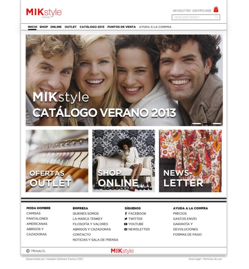 Propuesta:  e-commerce y logo  MIK style 2