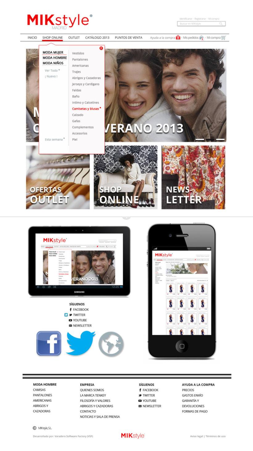 Propuesta:  e-commerce y logo  MIK style 4