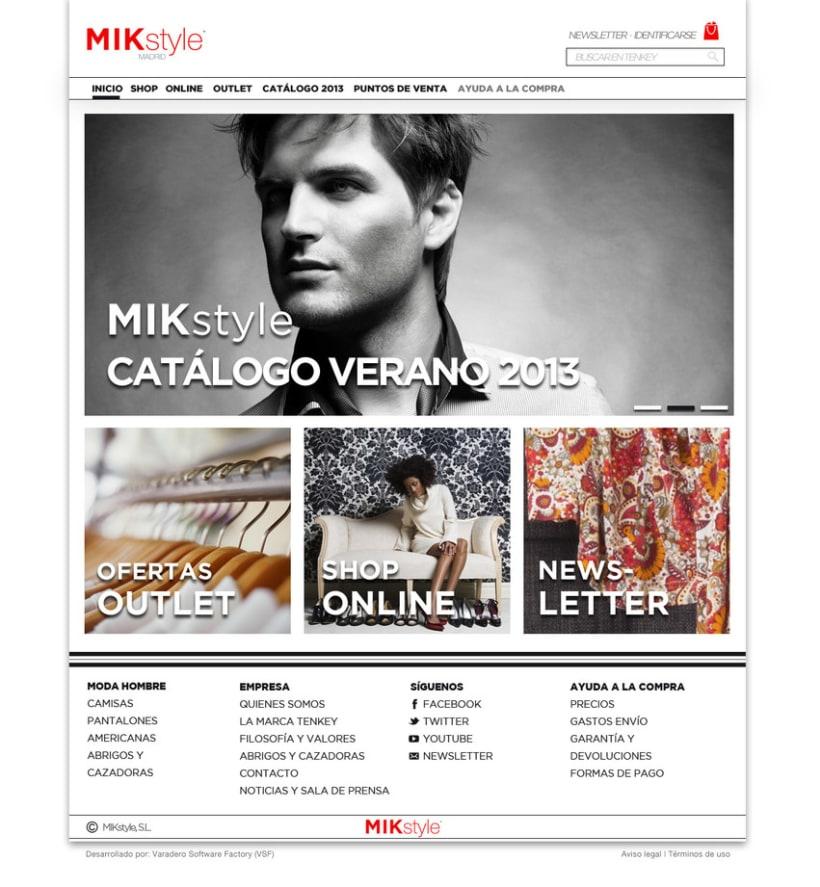 Propuesta:  e-commerce y logo  MIK style 1