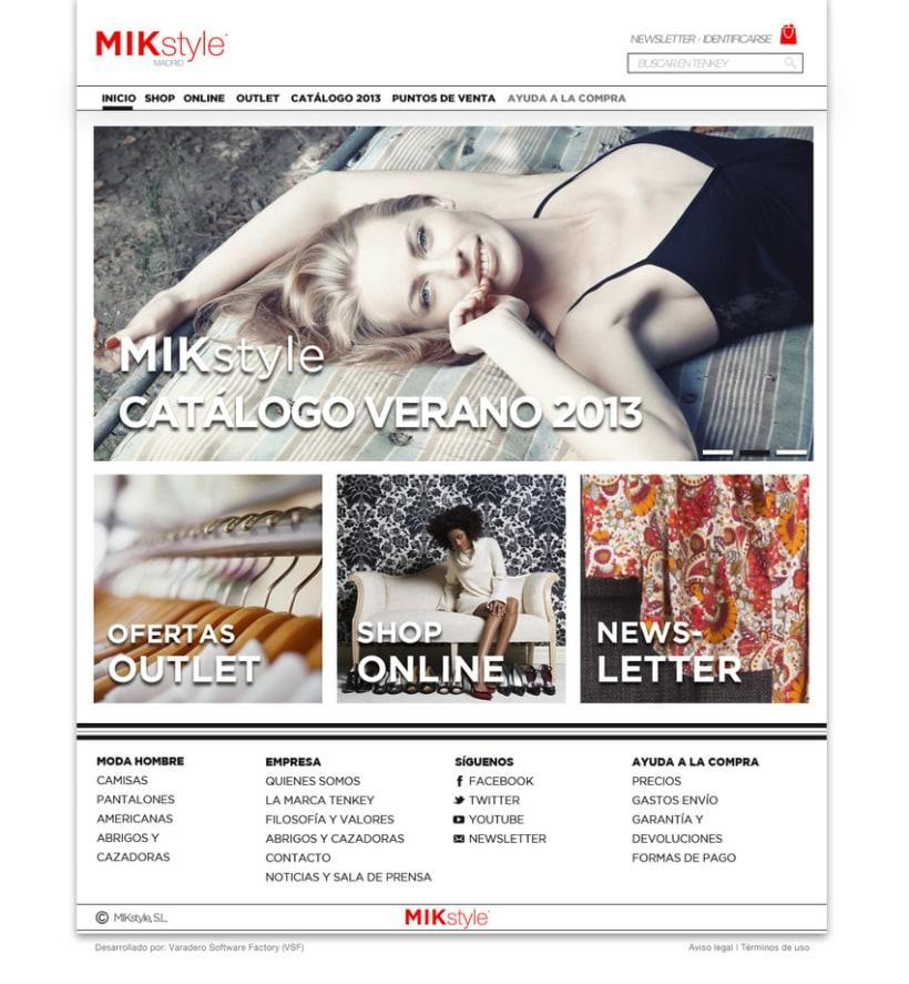 Propuesta:  e-commerce y logo  MIK style 3