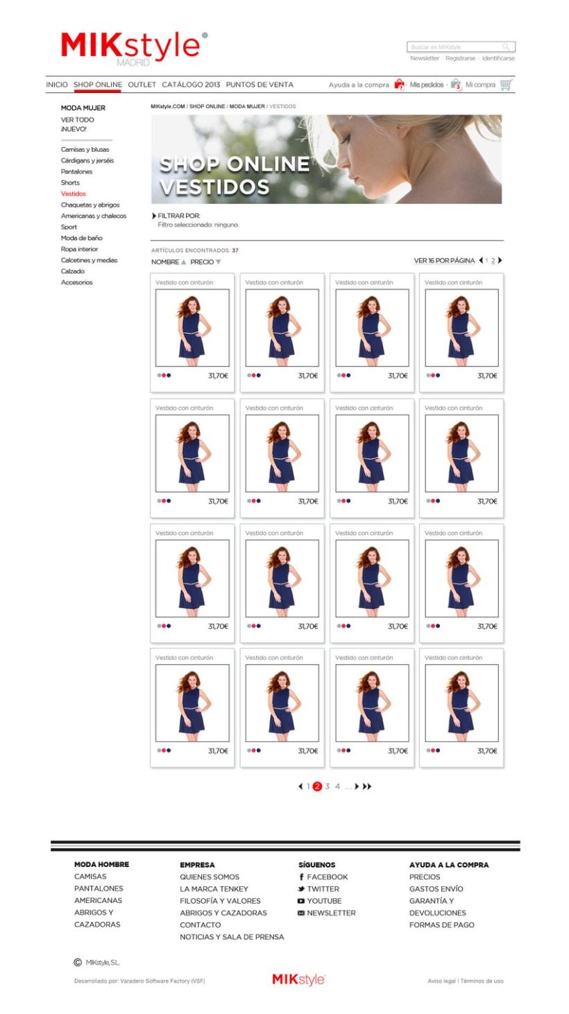 Propuesta:  e-commerce y logo  MIK style 5