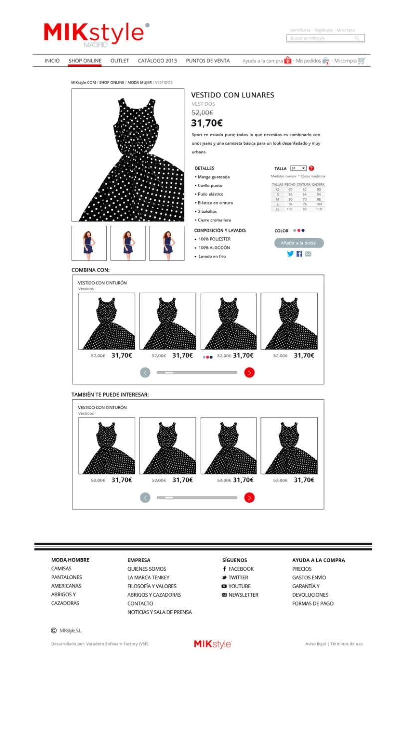 Propuesta:  e-commerce y logo  MIK style 6