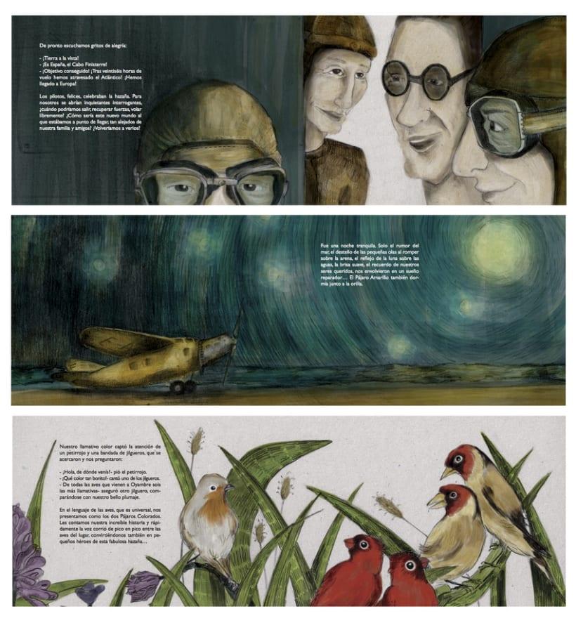 """La aventura de """"El Pájaro Amarillo"""" y los pájaros colorados 2"""