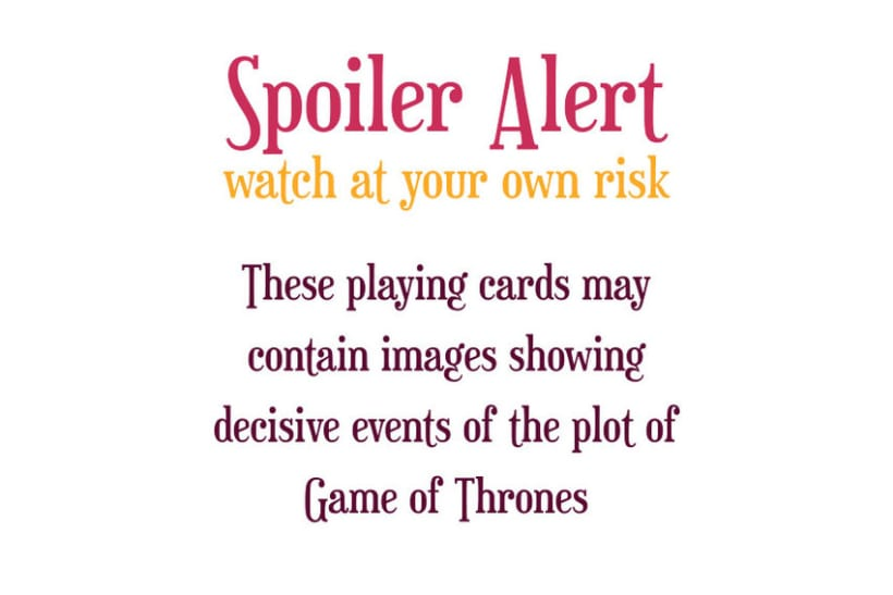 Game of Thrones Playing Cards 1