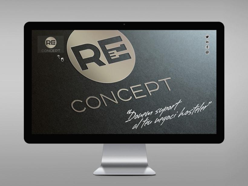 Identidad corporativa, papelería y web Reconcept 0