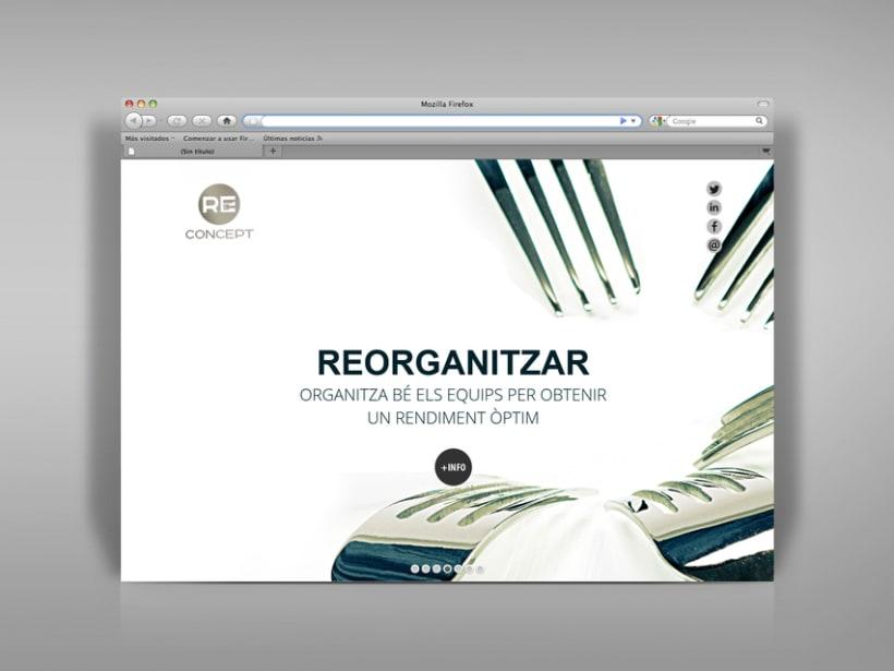 Identidad corporativa, papelería y web Reconcept 6