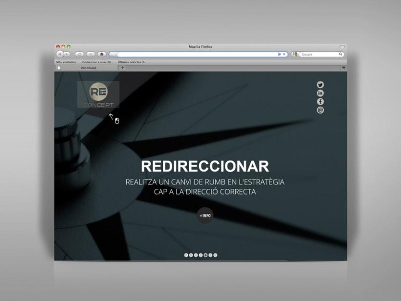 Identidad corporativa, papelería y web Reconcept 7