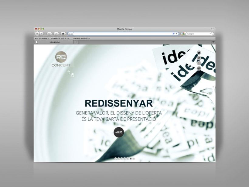 Identidad corporativa, papelería y web Reconcept 8