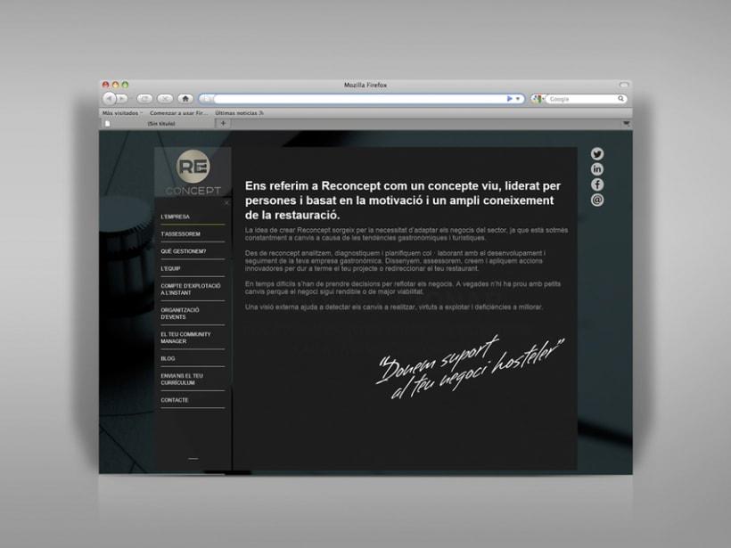 Identidad corporativa, papelería y web Reconcept 9