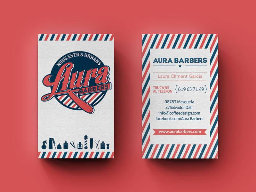 Identidad corporativa Aura Barbers 1