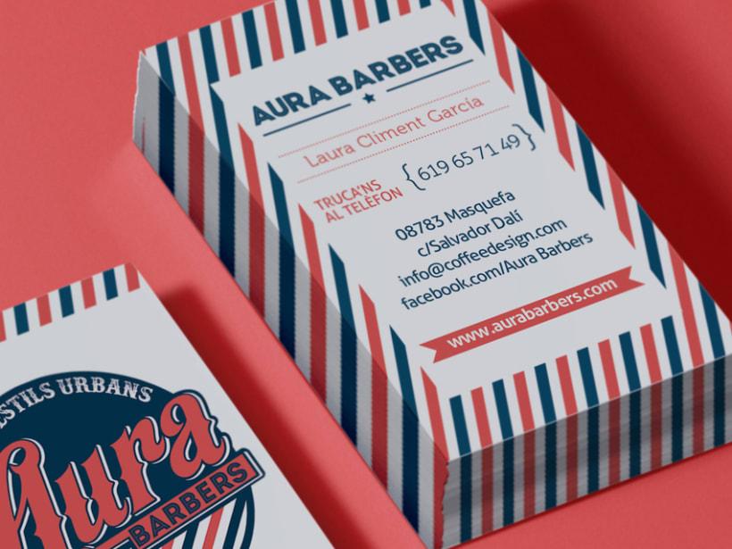 Identidad corporativa Aura Barbers 4