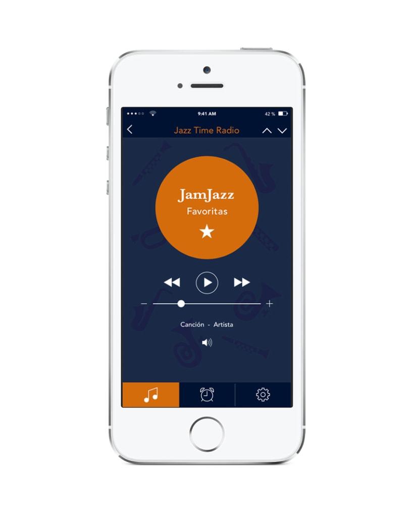 Aplicación Radio Jazz 1