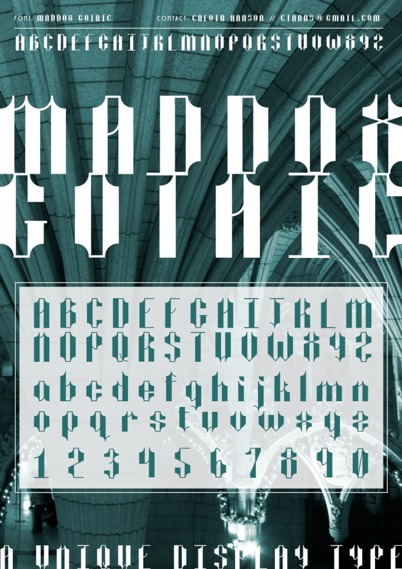 Maddox Gothic  (Curso: Tipos con Clase) 0
