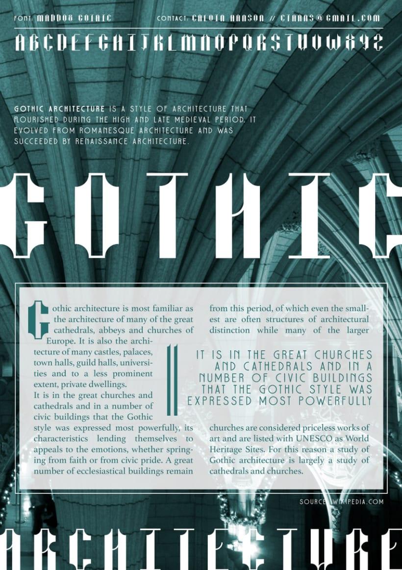 Maddox Gothic  (Curso: Tipos con Clase) 2