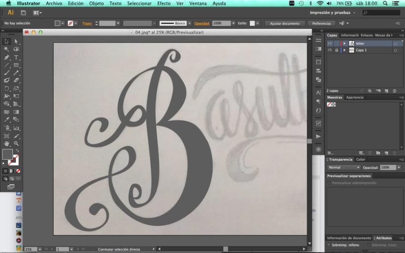 Hand lettering branding 2