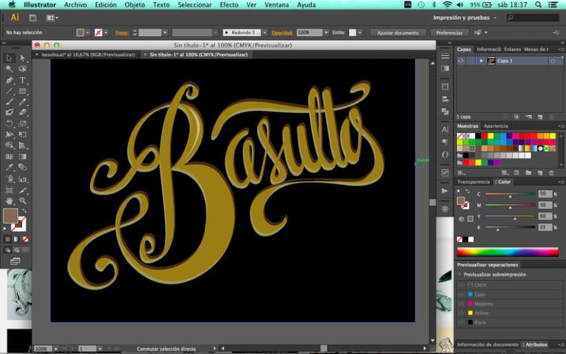 Hand lettering branding 4