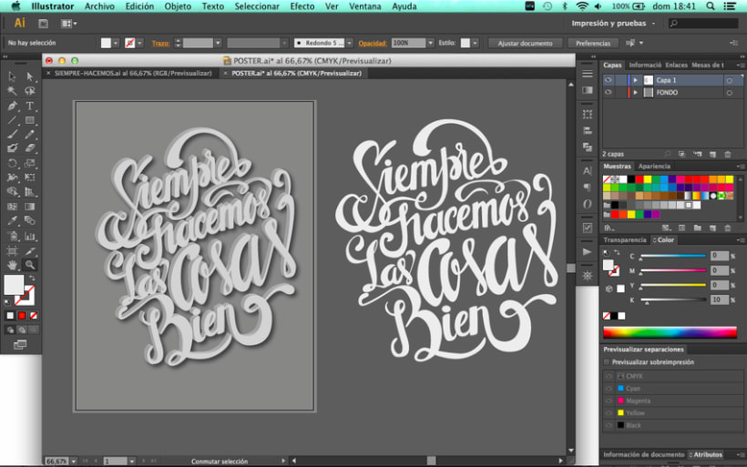 Poster and clothing letteringNuevo proyecto 4
