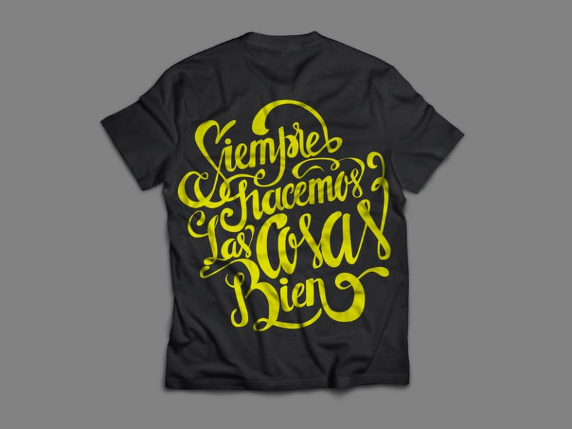 Poster and clothing letteringNuevo proyecto 8