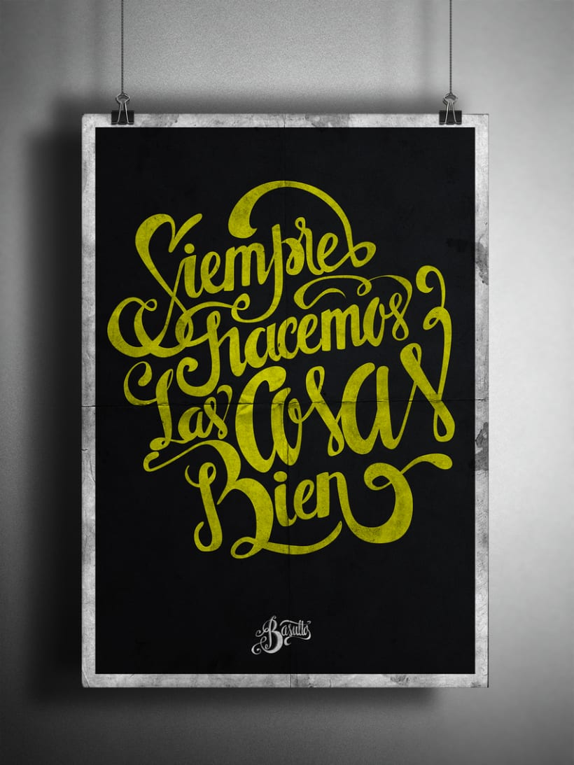 Poster and clothing letteringNuevo proyecto 12